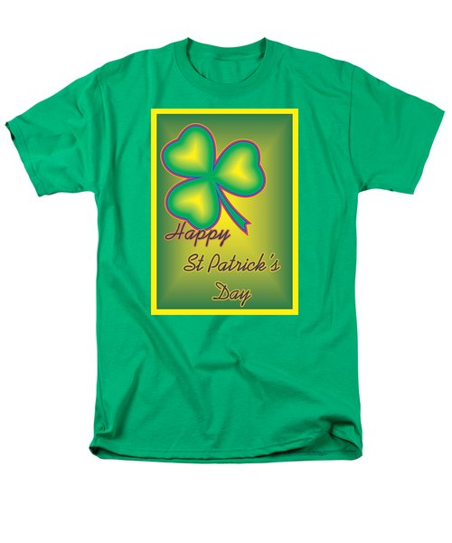 Men's T-Shirt  (Regular Fit) featuring the digital art St. Patrick's Day by Sherril Porter