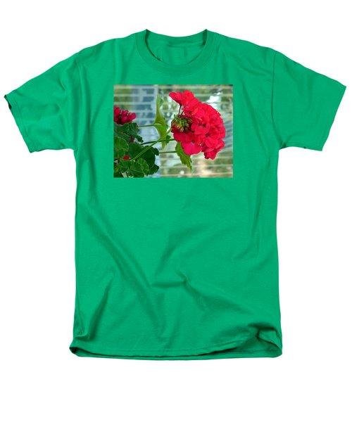 Stunning Red Geranium Men's T-Shirt  (Regular Fit) by Will Borden