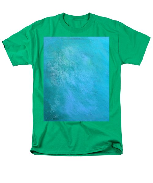 Men's T-Shirt  (Regular Fit) featuring the painting Teal by Antonio Romero