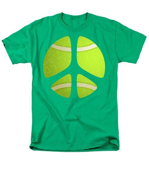 Tennis Ball Peace Sign Men's T-Shirt  (Regular Fit) by David G Paul