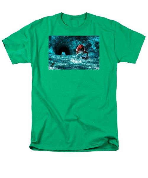 Men's T-Shirt  (Regular Fit) featuring the digital art The Eternal Ballad Of The Sea by Olga Hamilton