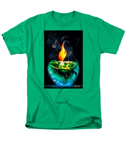 Men's T-Shirt  (Regular Fit) featuring the photograph The Winter Of Fire And Ice by Rikk Flohr