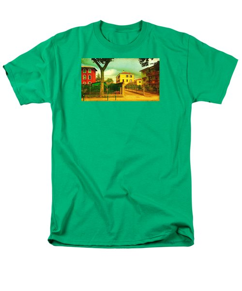 Men's T-Shirt  (Regular Fit) featuring the photograph The Yellow House by Anne Kotan