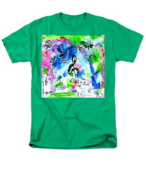Men's T-Shirt  (Regular Fit) featuring the mixed media Treble Mp by Genevieve Esson