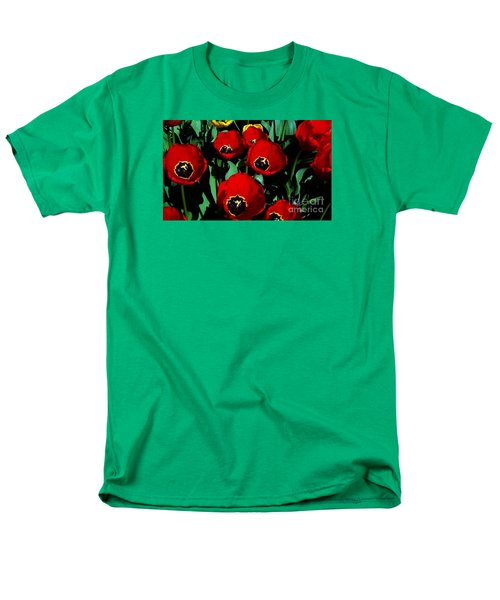 Men's T-Shirt  (Regular Fit) featuring the photograph Tulips by Vanessa Palomino