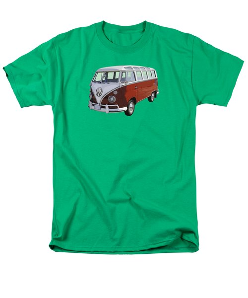 Volkswagen Bus 21 Window Bus  Men's T-Shirt  (Regular Fit) by Keith Webber Jr