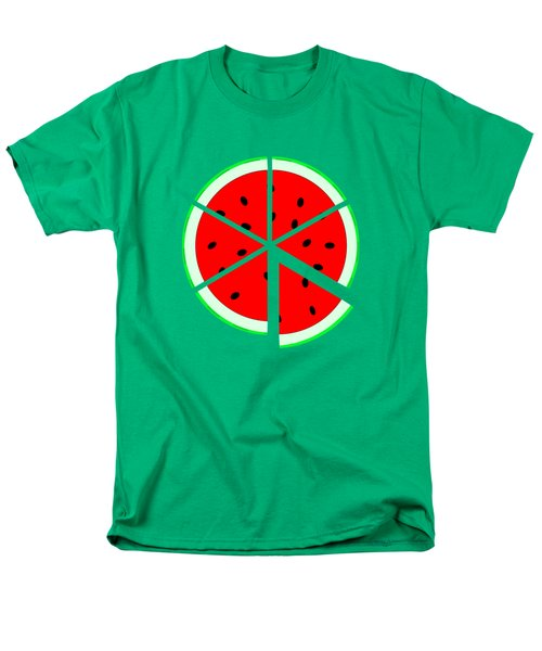 Watermelon Wedge Men's T-Shirt  (Regular Fit) by Susan Eileen Evans