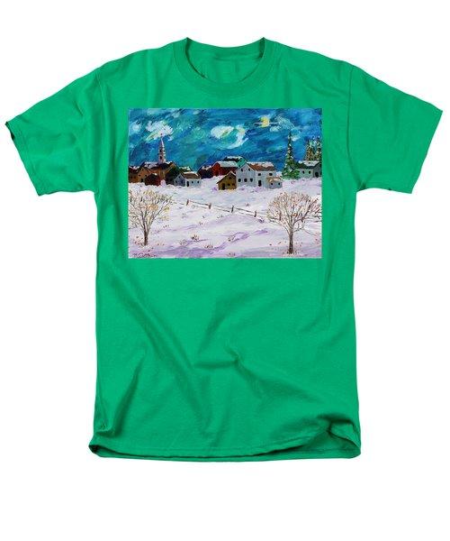 Winter Village Men's T-Shirt  (Regular Fit) by Mike Caitham