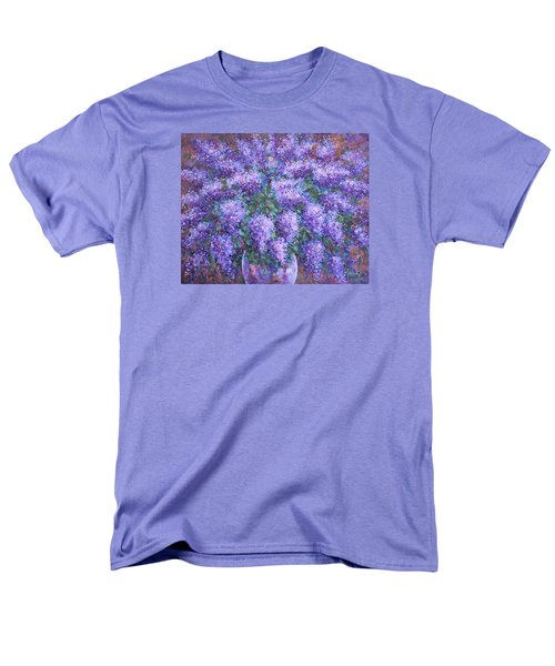 Men's T-Shirt  (Regular Fit) featuring the painting  Scented Lilacs Bouquet by Natalie Holland