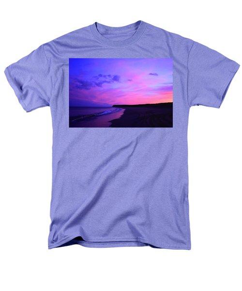 Pink Sky And Beach Men's T-Shirt  (Regular Fit) by Jason Lees