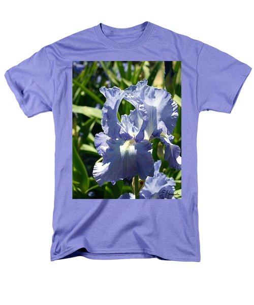 Purple Bearded Iris Men's T-Shirt  (Regular Fit)