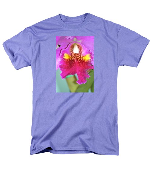 A Purple Cattelaya  Orchid Men's T-Shirt  (Regular Fit) by Lehua Pekelo-Stearns