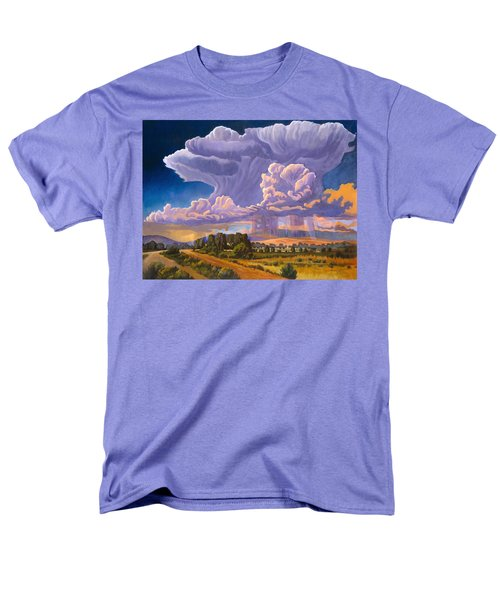 Men's T-Shirt  (Regular Fit) featuring the painting Afternoon Thunder by Art James West