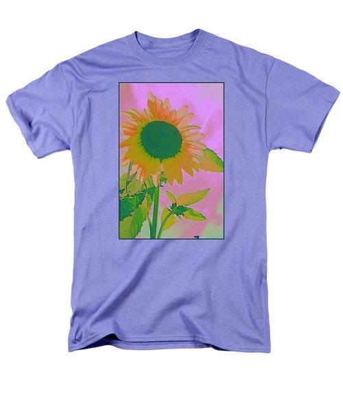 Autumn's Sunflower Pop Art Men's T-Shirt  (Regular Fit) by Dora Sofia Caputo Photographic Art and Design