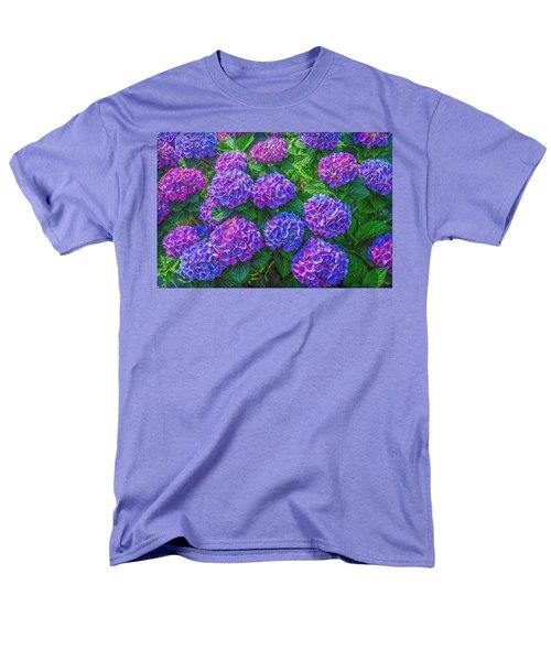 Men's T-Shirt  (Regular Fit) featuring the photograph Blue Hydrangea by Hanny Heim
