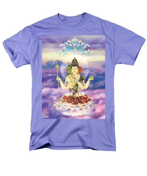 Men's T-Shirt  (Regular Fit) featuring the photograph Blue-neck Kuan Yin by Lanjee Chee
