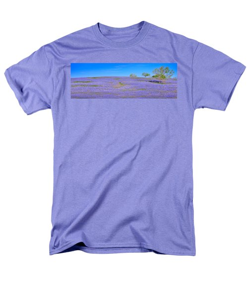 Men's T-Shirt  (Regular Fit) featuring the photograph Bluebonnet Vista Texas  - Wildflowers Landscape Flowers  by Jon Holiday