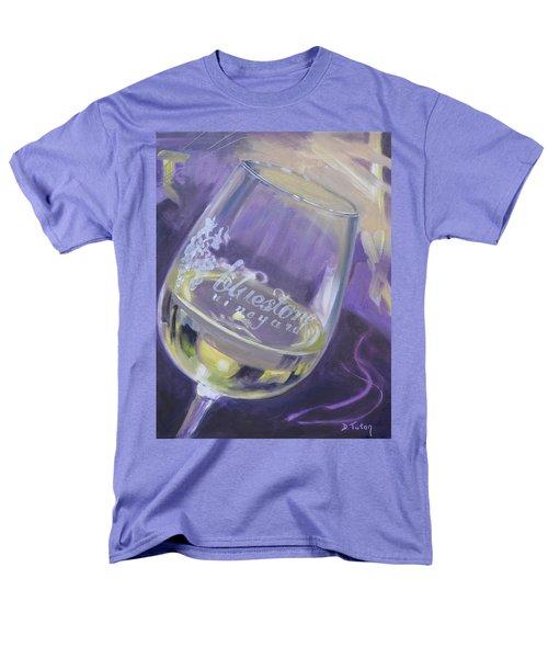Bluestone Vineyard Wineglass Men's T-Shirt  (Regular Fit)