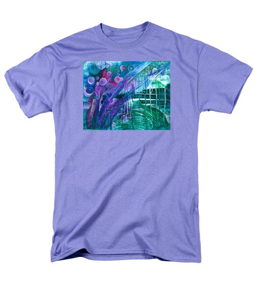 Men's T-Shirt  (Regular Fit) featuring the painting Bridge Park by Adria Trail