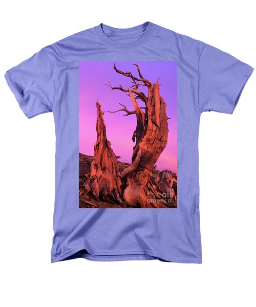 Men's T-Shirt  (Regular Fit) featuring the photograph Bristlecone Pine At Sunset White Mountains Californa by Dave Welling
