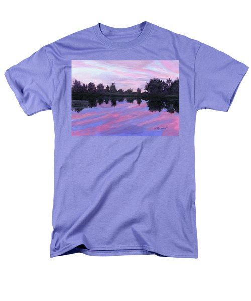 Men's T-Shirt  (Regular Fit) featuring the painting Camp Sunset by Lynne Reichhart