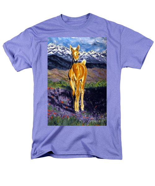 Candy Rocky Mountain Palomino Colt Men's T-Shirt  (Regular Fit) by Jackie Carpenter