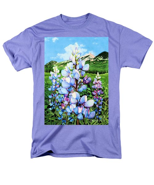 Men's T-Shirt  (Regular Fit) featuring the painting Colorado Summer Blues by Barbara Jewell