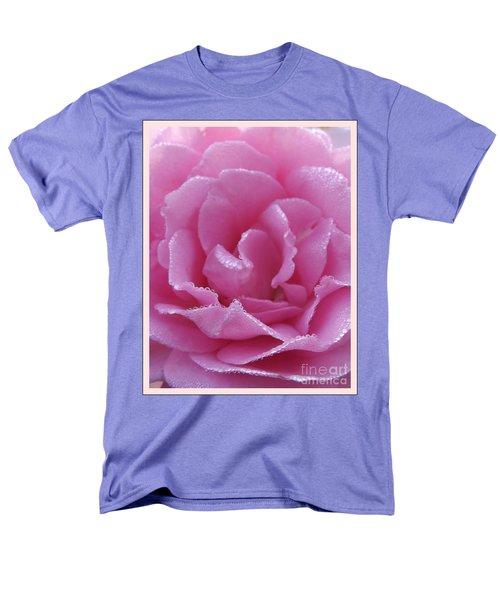 Dew Kissed Rose Men's T-Shirt  (Regular Fit) by Sara  Raber