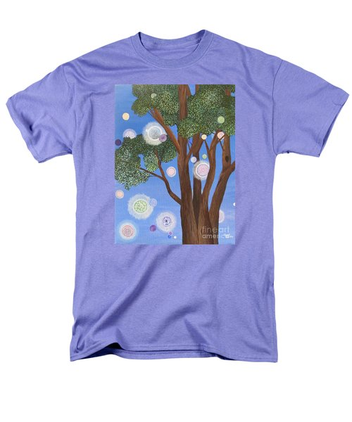 Men's T-Shirt  (Regular Fit) featuring the painting Divine Possibilities by Cheryl Bailey