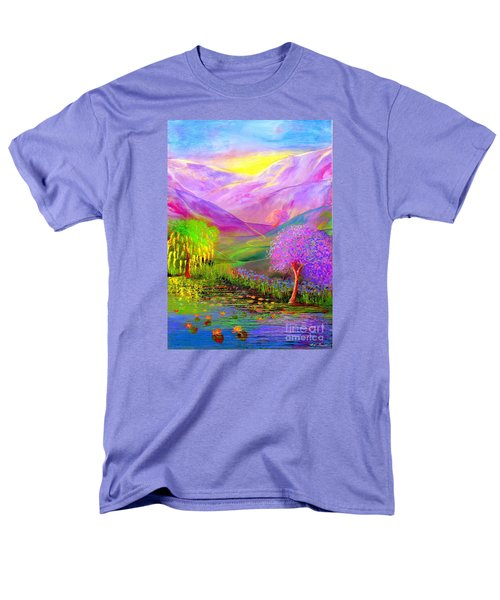 Men's T-Shirt  (Regular Fit) featuring the painting Dream Lake by Jane Small