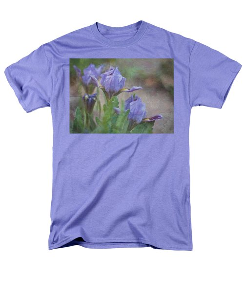 Men's T-Shirt  (Regular Fit) featuring the photograph Dwarf Iris With Texture by Patti Deters