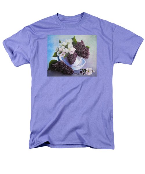 Men's T-Shirt  (Regular Fit) featuring the painting Feel The Fragrance by Vesna Martinjak