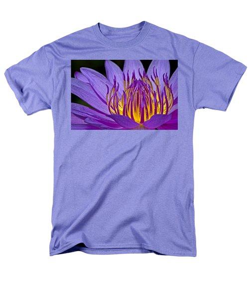 Flaming Heart Men's T-Shirt  (Regular Fit) by Susan Candelario