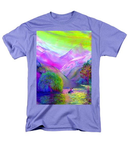 Men's T-Shirt  (Regular Fit) featuring the painting  Love Is Following The Flow Together by Jane Small