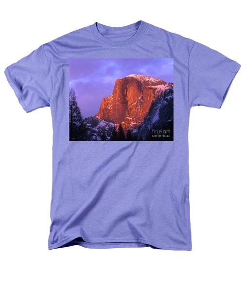 Half Dome Alpen Glow Men's T-Shirt  (Regular Fit) by Jim And Emily Bush