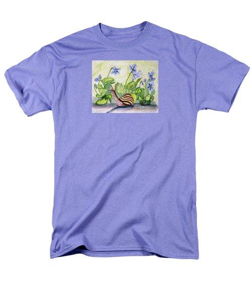 Men's T-Shirt  (Regular Fit) featuring the painting Harold In The Violets by Angela Davies