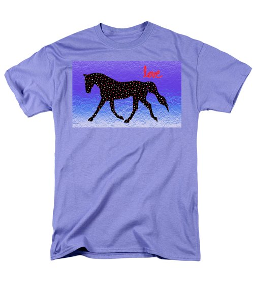 Horse Hearts And Love Men's T-Shirt  (Regular Fit) by Patricia Barmatz