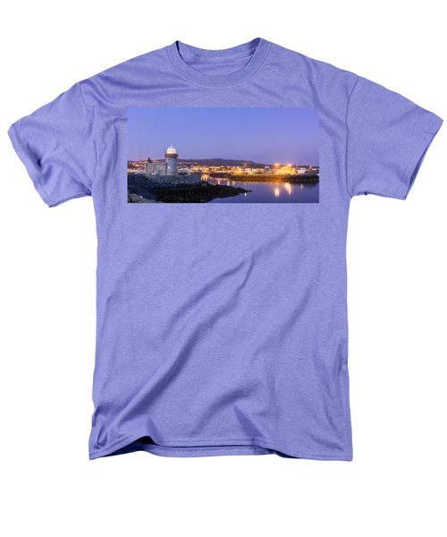 Howth Harbour Lighthouse Men's T-Shirt  (Regular Fit) by Semmick Photo