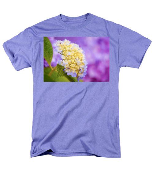 Hydrangea On Purple Men's T-Shirt  (Regular Fit) by Parker Cunningham