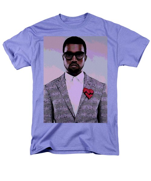 Kanye West Poster Men's T-Shirt  (Regular Fit) by Dan Sproul