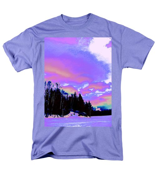 Winter  Snow Sky  Men's T-Shirt  (Regular Fit) by Expressionistart studio Priscilla Batzell