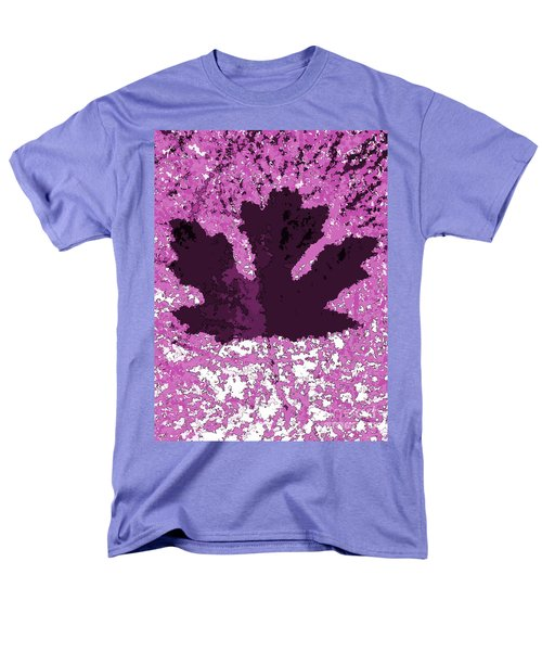 Maple Leaf Purple Pop Poster Hues  Men's T-Shirt  (Regular Fit)