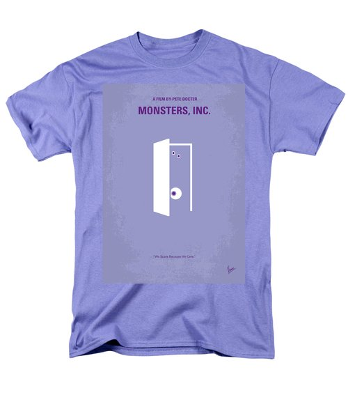No161 My Monster Inc Minimal Movie Poster Men's T-Shirt  (Regular Fit) by Chungkong Art