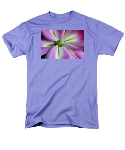 Pink Asiatic Lily Men's T-Shirt  (Regular Fit) by Julie Andel