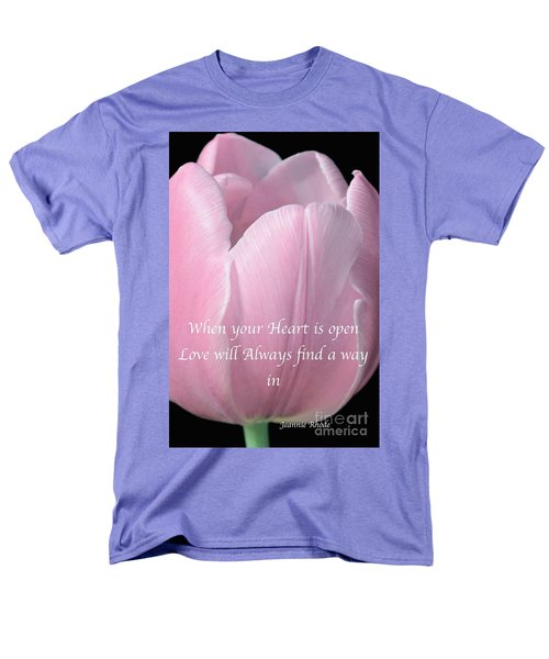 Pink Spring Tulip Men's T-Shirt  (Regular Fit) by Jeannie Rhode