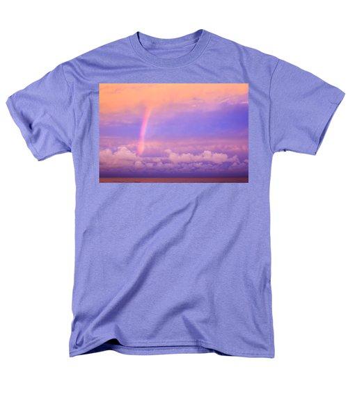 Men's T-Shirt  (Regular Fit) featuring the photograph Pink Sunset Rainbow by Peta Thames