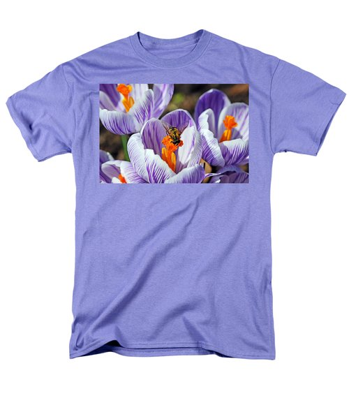 Men's T-Shirt  (Regular Fit) featuring the photograph Popping Spring Crocus by Debbie Oppermann