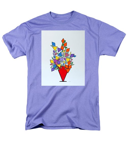 Potted Blooms Triangle Men's T-Shirt  (Regular Fit) by Thomas Gronowski