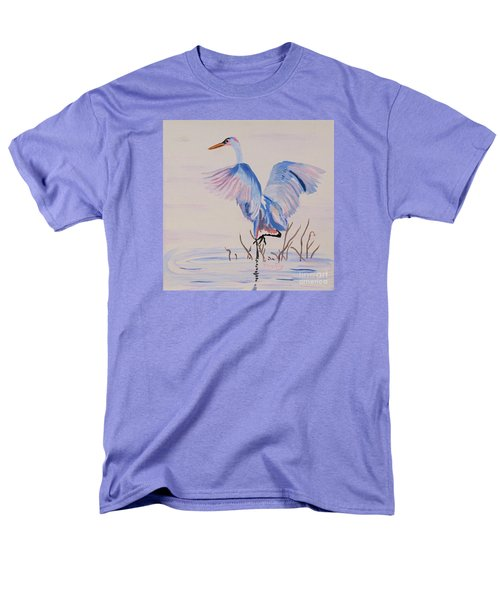 Men's T-Shirt  (Regular Fit) featuring the painting Pretty Crane by Phyllis Kaltenbach
