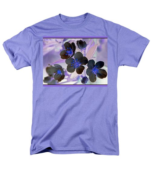 Purple Blue And Gray Men's T-Shirt  (Regular Fit) by Chris Anderson